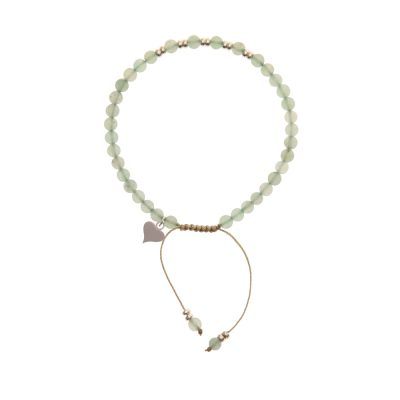 Green Aventurine Friendship Style Handmade Bracelet in Sterling Silver - Dorsey Collection
